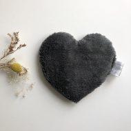 coeur dos gris foncé