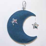 Lune zoo bleue plumetis