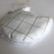 Bouillotte mini chat blanc